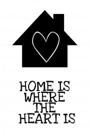 Home is where the heart is | * Spreuken | quotes | zwart wit