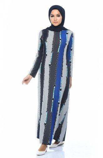 Desenli Elbise 1077 01 Saks Muslim Women Fashion Fashion Muslim Women