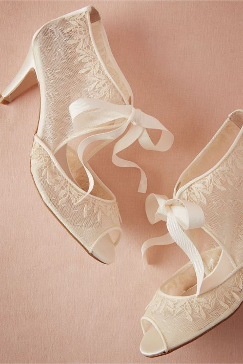 Swiss Dot Booties in Bride Bridal Shoes at BHLDN