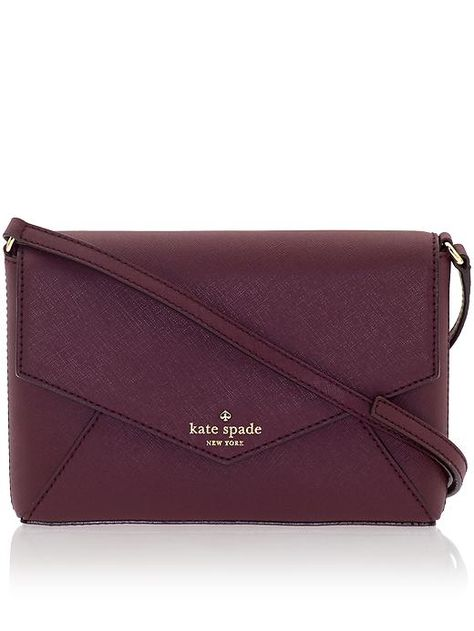 wine coloured purse | kate spade