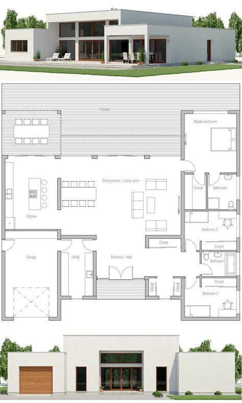 Modernarchitecture House Plan Ch531 In 2020 Architectural Design House Plans Modern House Plan Minimalist House Design