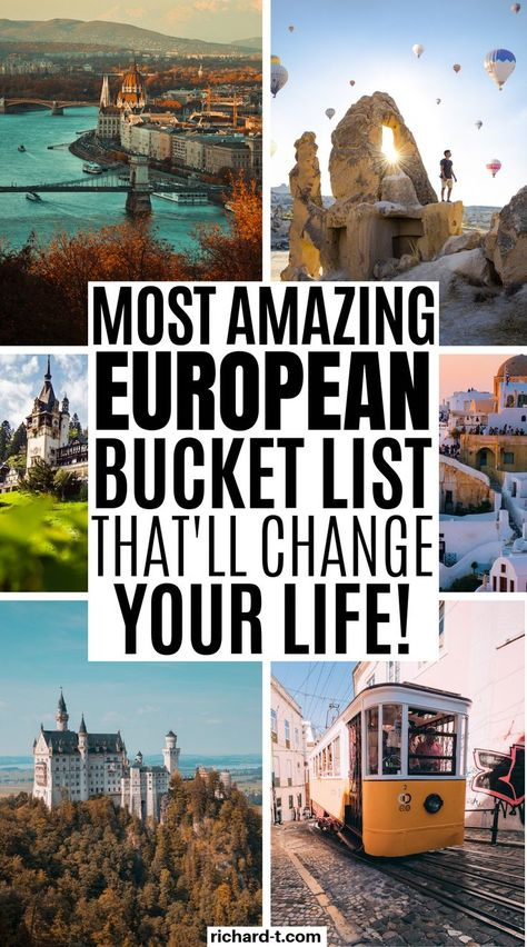 The ULTIMATE 100+ European bucket list that every single one of us needs to tick off in our life! This European bucket is amazing! Give it a read!! #europetravel #europe #europebucketlist #travelfrases