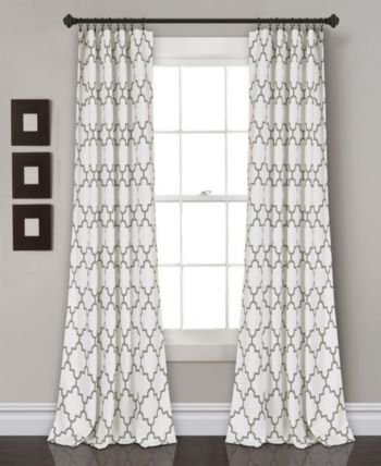 Lush Décor Bellagio 52 Window Curtains Room Darkening Curtains Lush Decor