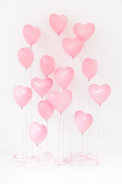 Heart balloons background #valentinesday