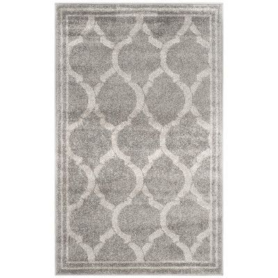 Found it at Wayfair - Amherst Gray / Light Gray Indoor/Outdoor Area Rug