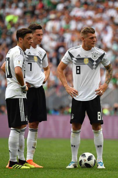 Germany S Midfielder Mesut Ozil Germany S Forward Julian Draxler And Julian Draxler Germany National Football Team Germany Football