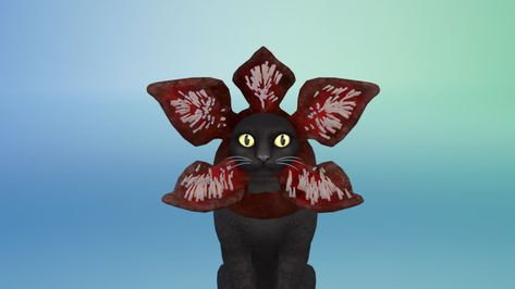 The Sims 4 Cats Dogs Create A Demagorgon Cat With This Accessory Cc Item Sims 4 Pets Sims Sims 4