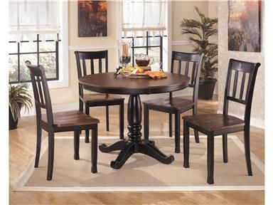 Shop For Signature Design By Ashley Round Dining Room Table Top D580 15t And Other Tab Round Dining Table Sets Brown Dining Room Table Side Chair Dining Room