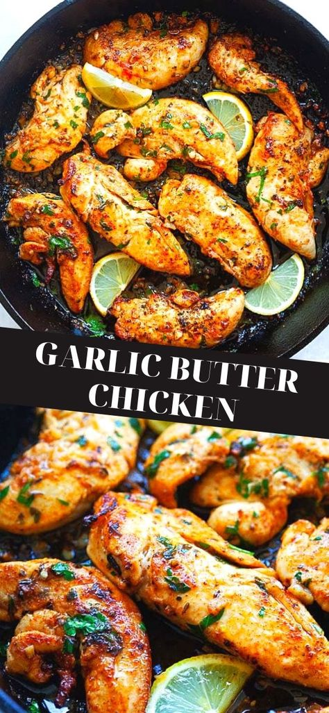 Garlic Recipes, Easy Chicken Recipes, Chicken Tenderloin Recipes Healthy, Top Chicken Recipe, Easy Recipe With Chicken Tenderloins, Chicken And Shallots Recipe, Cast Iron Chicken Recipes, Health Chicken Recipes, Chicken Recipes For Dinner