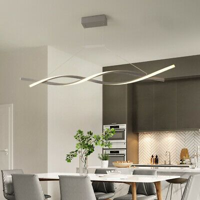 Modern Led Chandelier Dining Room Ceiling Light Acrylic Pendant