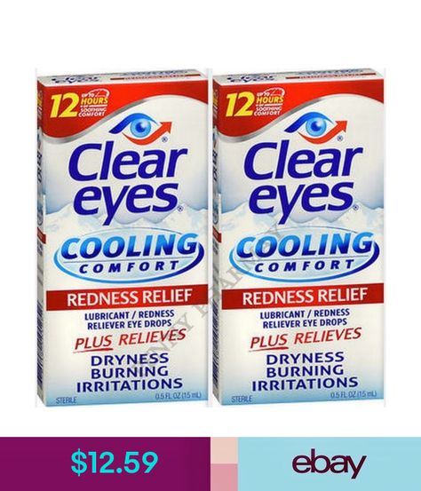Other Vision Care Clear Eyes Cooling Comfort Eye Drops Redness Relief 0 5 Fl Oz 2 Pack Ebay Fashion Products Clear Eyes Eye Drops Eyeglass Lenses