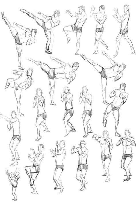 32 Ideas Drawing Poses Fighting Martial Arts Design