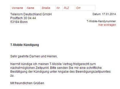Prachtig Kundigung Telekom Vorlage In 2020 Telekom Vorlagen Word Vorlagen