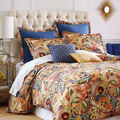 Iranian In Origin The Kidney Shaped Motif Now Called Paisley Was Named After A Town In Scotland Best Known F Paisley Bedding Bed Linens Luxury Paisley Duvet