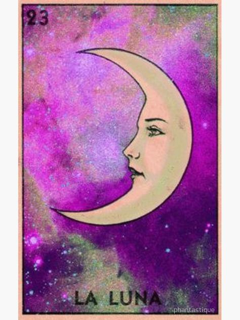 """Luna Tarot - Pink Glitter Galaxy - Loteria"" Canvas Print by phantastique 