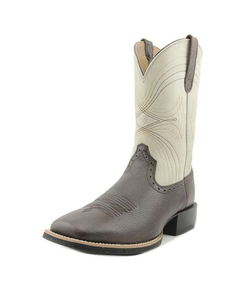 Leather Sport Wide Square Toe Western