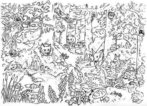 ausmalbilder kostenlos tiere im wald - ausmalbilder mandala