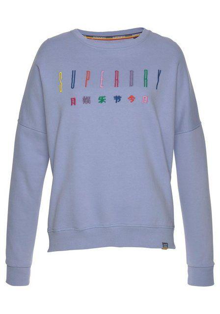 Superdry Sweatshirt »CARLY CARNIVAL EMBROIDERED CREW« im Rainbow-Design