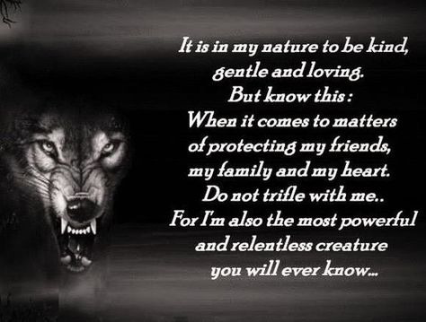 wolf don\'t mess with my family or friends - Google Search ...