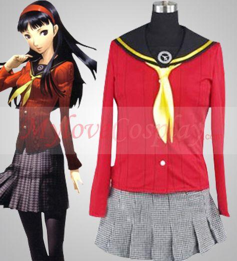 Persona 4 Shin Megami Tensei 4 Amagi Yukiko Dress School Uniform cosplay costume