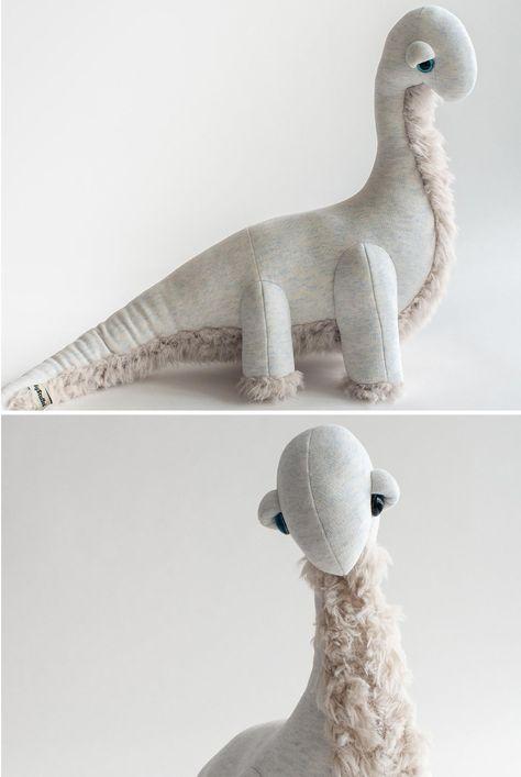 Minimalist Stuffed Dinosaur
