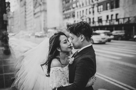 New York City, NYC wedding   Brooklyn wedding   New York City, NYC elopement   Brooklyn elopement   Bride and groom portraits   Black and white wedding photography   #newyorkwedding #nycwedding #brideandgroomportraits