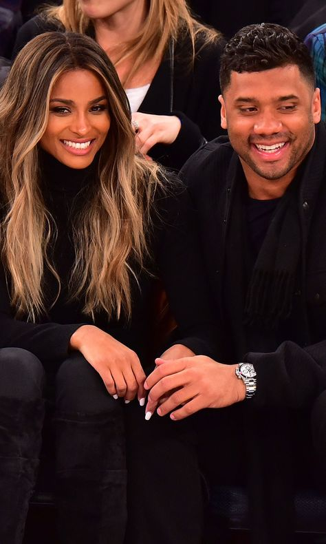 Ciara and Russell Wilson Look Like They Got Struck by Cupid's Arrow a Few Days Early During Their Cute Basketball Date Ciara Wilson, Ciara And Russell Wilson, Hair Inspo, Hair Inspiration, Ciara Style, Pelo Afro, New Hair Colors, Tips Belleza, Hair Highlights
