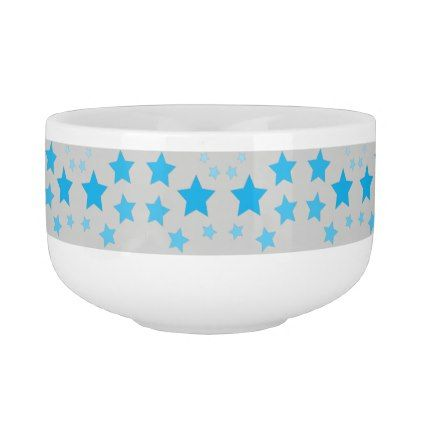Blue And Grey Star Designed Soup Bowl - pattern s&le design template diy cyo customize  sc 1 st  Pinterest & Blue And Grey Star Designed Soup Bowl - pattern sample design ...