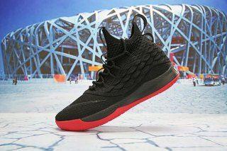b3c7884288c Mens Nike LeBron 15 Basketball Shoes Low Black Red White AO1755 608 ...