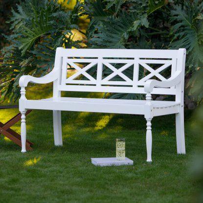 Superb Belham Living Holland X Back Outdoor Bench Hayneedle Inzonedesignstudio Interior Chair Design Inzonedesignstudiocom