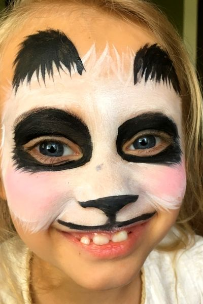 Step By Step Easy Panda Face Paint Tutorial Panda Face Painting Face Painting Easy Face Painting Designs