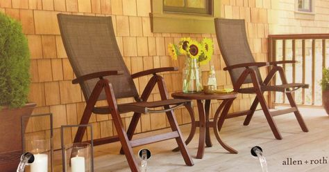 Ordinaire Lowes Allen + Roth 3 Piece Woodwinds (Set Of 2 Folding Chairs + Side  Table). $248