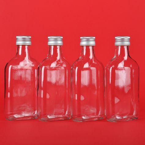 20 Bottiglie di vetro vuote con tappo a vite 100 ml per liquore grappa aceto olio slkfactory: Amazon.it: Casa e cucina