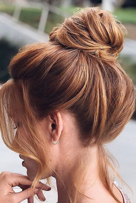 156 Best Wedding Hairstyles For Long Hair 2020/21 ❤ wedding hairstyles for long hair bang top knot #weddinghairstyle #weddingupdo #hairstyle #hair #weddingforward #wedding #bride