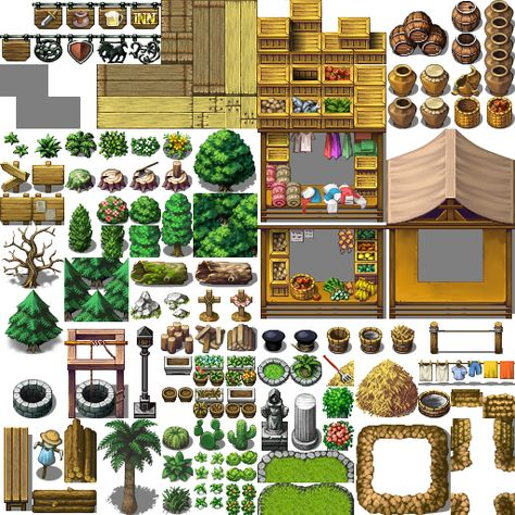 MV trees by SchwarzeNacht rega Rpg maker RPG Pixel Art