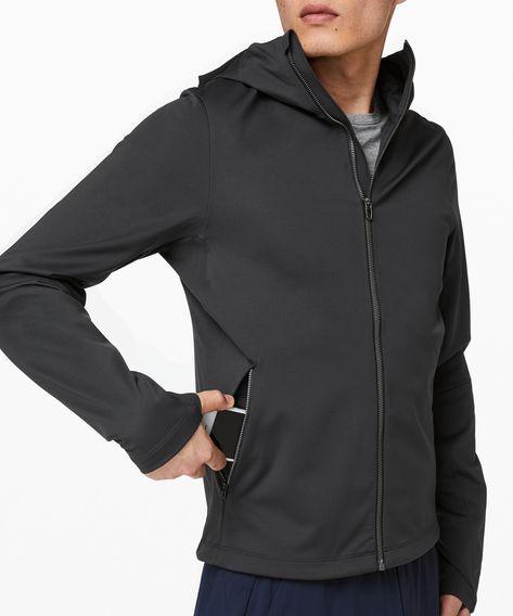 lululemon Men's Fleece Back Soft Shell, Obsidian, Size Xs in