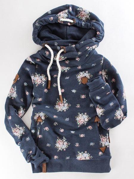 Naketano Ludenpresse Pullover Hoodie   Floral hooded