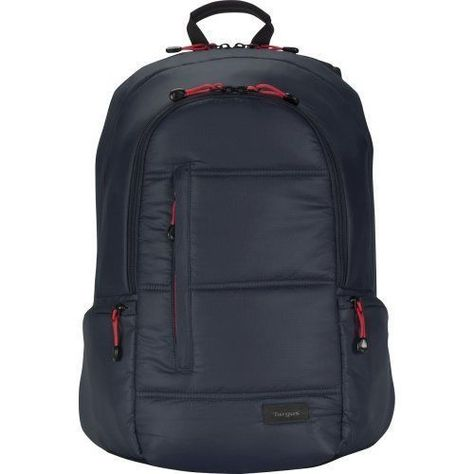 "Targus Crave II 15.6"" Laptop Carrying Case Backpack Navy Blue Water Oil Repell…"