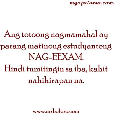 Pamatay na Banat and Mga Patama Love Quotes | Patama Quotes ...