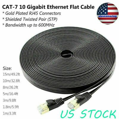 Cat 7 10 Gigabit Ethernet Ultra Flat Patch Cable For Modem Router Lan Network Us In 2020 Modem Router Cable Modem Router Cable Modem