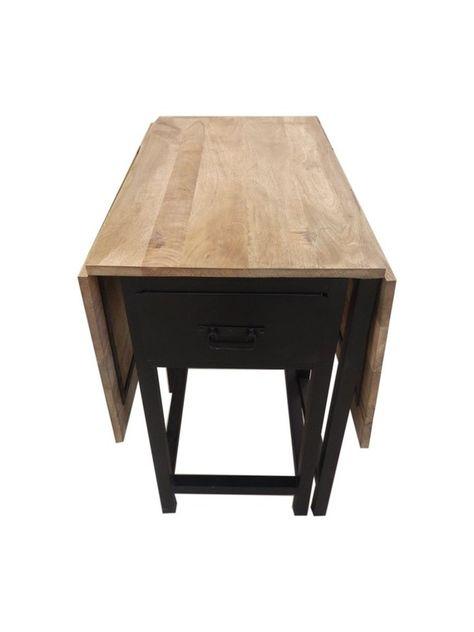 Table Extensible Design Bois Metal Table Extensible Mobilier De Salon Bois Metal