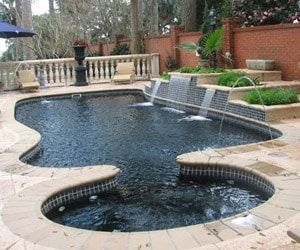 Fiberglass Pools Holden Beach Nc Swimming Pool Renovation Fiberglass Pools Pool Designs