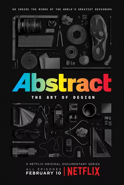 Type Design. Abstract Netflix documentary series. Godfrey Dadich Partners.