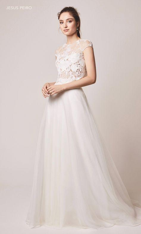 Vestiti Da Sposa Jesus Peiro.115 Abito Da Sposa Collezione 2020 Jesus Peiro Nel 2020 Con