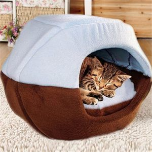 Ffmode Cozy Pet Dog Cat Cave Mongolian Yurt Shaped House Bed With Removable Cushion Inside Dog Pet Beds Cat Bed Cat Sleeping