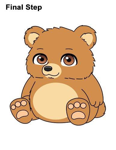 How To Draw A Cartoon Bear By How2drawanimals Bear Cartoon Bear Paintings Cartoon Animals