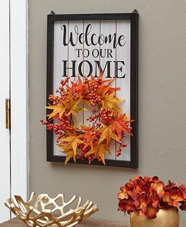 4 Pc Interchangeable Welcome Home Sign Welcome Home Signs Interchangeable Wreath Home Signs