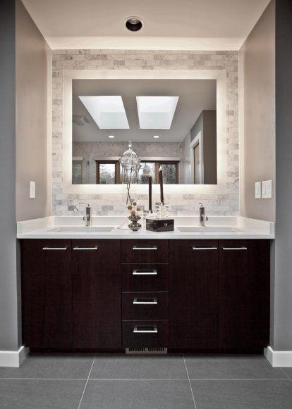 Bathroom Pictures Of Vanities For Bathroom Large Square Mirror With White Woden Frame Tan Col Bathroom Vanity Designs Relaxing Bathroom Master Bathroom Vanity