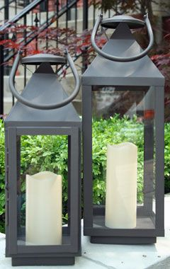 20 Inch Extra Large Outdoor Lantern 5 Hr Timer Led Candle Garden