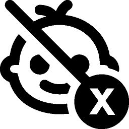Baby Not Suitable For Kids Icon Kids Icon Photoshop Text Icon